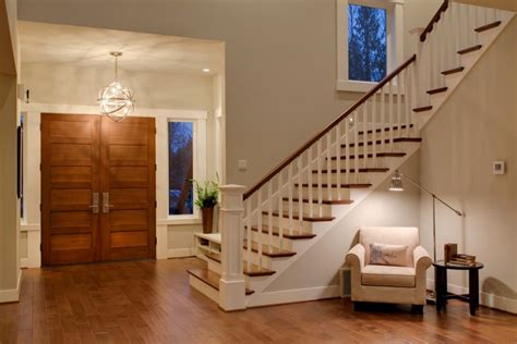Split Level Entryway Decorating Modern Foyer Light Tedx Decors Charming Modern Foyer