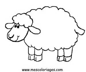 Sheep Coloring Pages For Kids sketch template