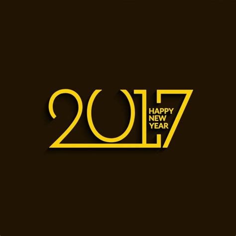 new year and yellow new year 2017 yellow background vector free