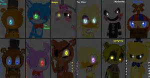 All fnaf characters in sonic style by marine the bat2000 on deviantart