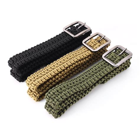 Ikat Pinggang Paracord New Belt Import paracord belt outdoor emergency survival 550lb milspec utility cord metal buckle ebay