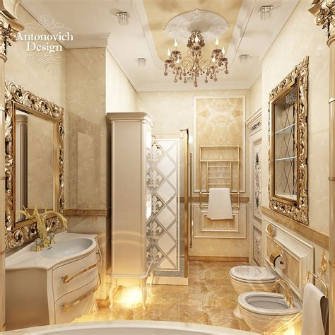 Bathroom Niche Ideas luxury house project by antonovich design