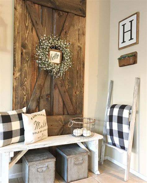 decorating ideas rustic farmhouse entryway decorating ideas 12