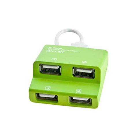 E Blue Usb Hub Dynamic by E Blue Dynamic Purity Green 4 Ports Mini Usb Hub Ehb038gn