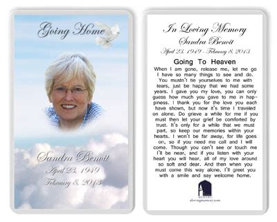 how to make memorial cards for funeral best prayer cards photo memorial cards laminated photo