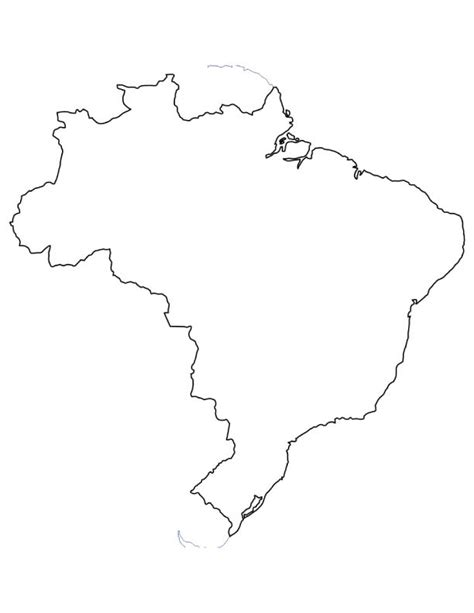coloring page map of brazil map of brazil coloring page download free map of brazil