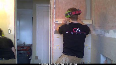 8 X 6 Bathroom Layout Ideas 12x24 tile linear style bathroom reno timelapse youtube