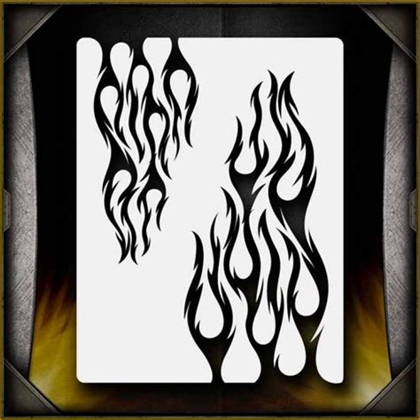 pattern airbrush tribal flames 4 tribal pinstripes
