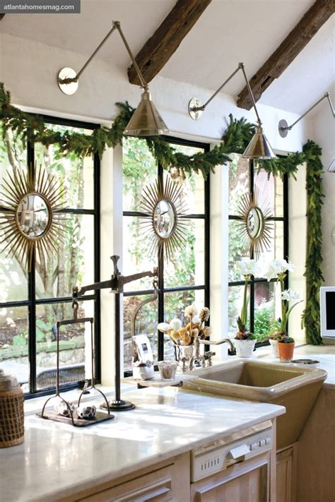 kitchen window decor ideas dreaming simple christmas decorating all through the