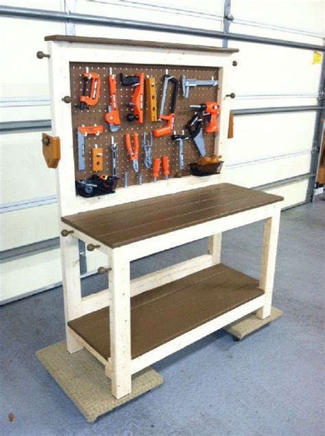 diy kids workbench woodworking session
