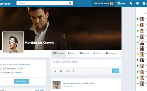 social network profile template dayzone bootstrap social network html