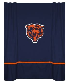 chicago bears curtains chicago bears shower curtain
