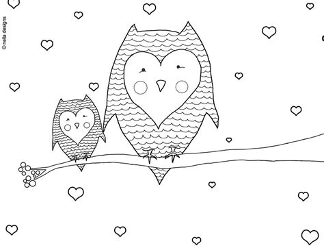valentine owl coloring page valentine s day owls coloring page coloring pinterest
