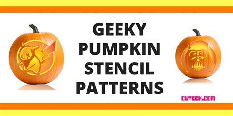 geeky pumpkin carving templates geeky pumpkin stencils cuteek