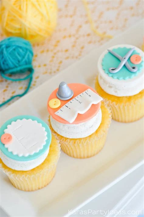 cupcake themed party games kara s party ideas quot sew cute quot sewing themed 10th birthday