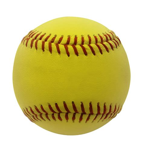 softball images sports attack softball 12 leather yellow with kevlar 174 seams