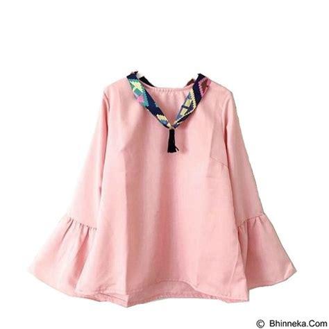 Salsabila Blouse Dusty Pink Tunik Atasan Wanita Baju Murah jual modenesia blouse syal dusty pink merchant murah bhinneka