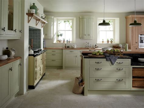 kitchen green painted wood kitchen cabinet with stove and milton sage from eaton kitchen designs wolverhton