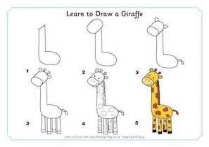 learn how to draw doodle learn to draw a giraffe
