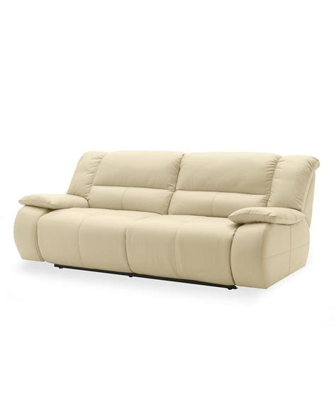 Franco Leather Sofa Double Power Motion Reclining 86 Quot W X Franco Leather Reclining Sofa