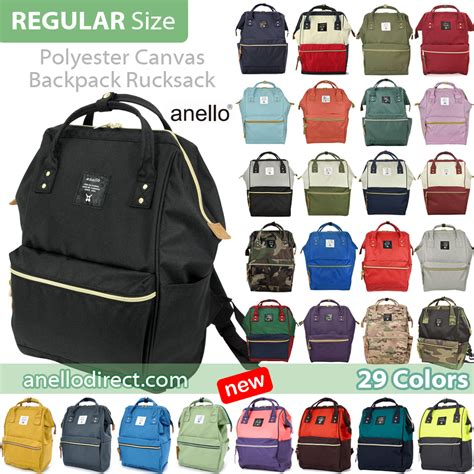 Backpack Size by Anello Polyester Canvas Backpack Rucksack Regular Size At
