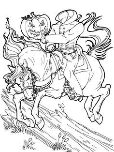 halloween coloring pages headless horseman 1000 images about fun activities for halloween on