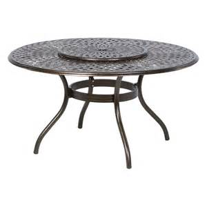 Patio Table Lazy Susan Alfresco Home Kingston Weave 59 In Dining Table With Lazy Susan At Hayneedle