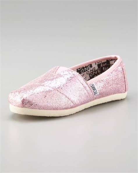 toms pink glitter shoe youth in pink pink glitter lyst