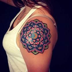tattoos with color color mandala pairodicetattoos