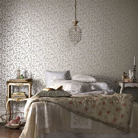 Grey Vintage Bedroom Wallpaper 25 Wall Design Ideas For Your Home