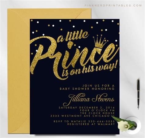 Sweet Prince Baby Shower Invitations by Invitations Announcements Invitations Prince Baby Shower