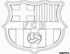 Barcelona Logo Coloring Page