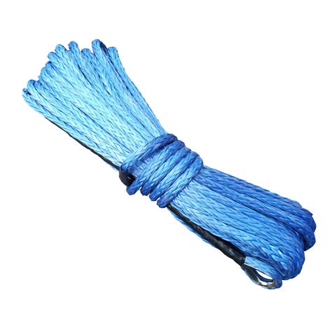 synthetic winch rope 40m x 10mm blue