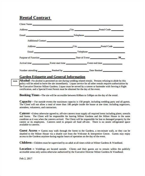 event space rental contract template 100 event space rental contract template page sky event