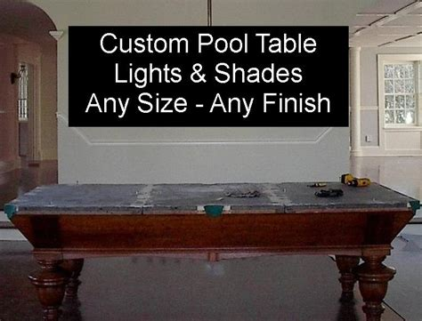 custom billiard lights pool table metal l shades