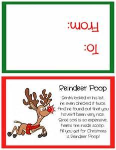 Free reindeer poop poem printable reindeer poop printable free