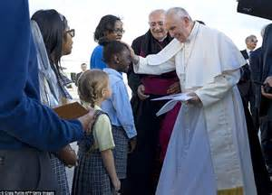 Wedding Blessing New York by Pope Francis Lands In Nyc And Leads Evening Prayers At St