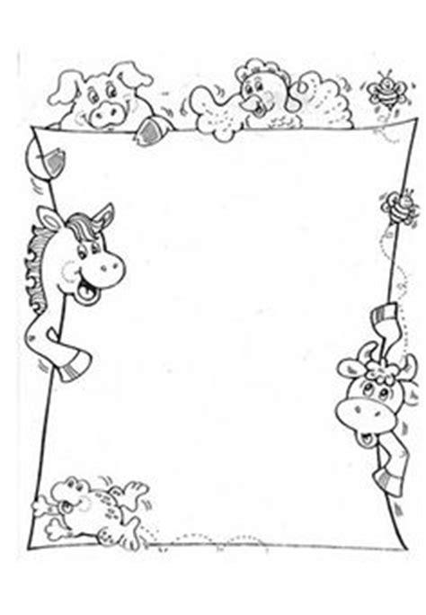 printable farm stationary farm animal border clip art 24