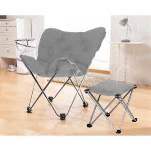 Your zone butterfly chair with foot rest stool multiple colors