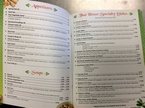 house of thai menu thai house dinner menu picture of thai house jensen beach tripadvisor