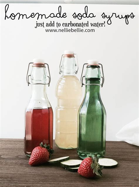 Handmade Soda - soda syrup recipes