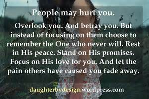 People may hurt you but god never will daughter by design