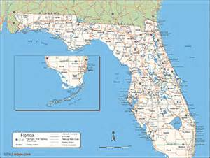 florida counties map with roads map of florida showing cities and counties