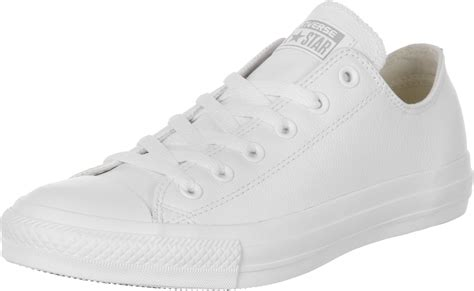 converse all ox leather shoes white