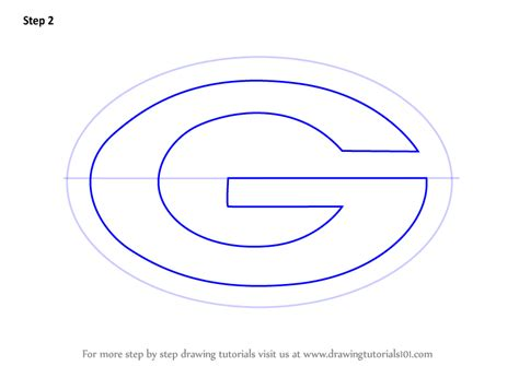 draw logo step by step how to draw green bay packers logo