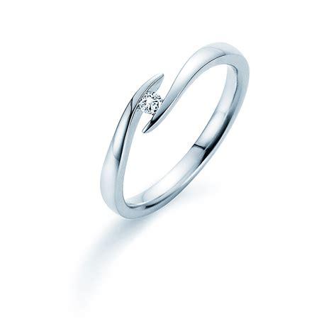 Verlobungsringe Silber Mit Diamant by Verlobungsring Twist In Silber Mit Diamant 0 05ct G Si