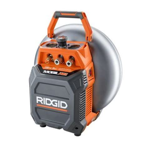 ridgid 6 gal vertical pancake compressor of60150vp the