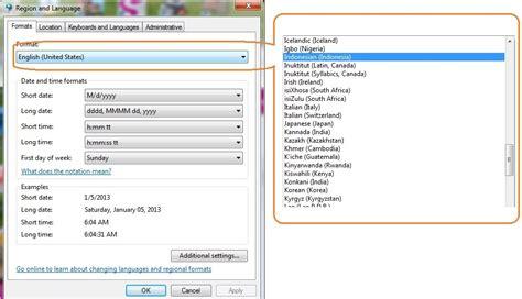 mengganti format gambar cara mengganti setting format angka dan waktu indonesia