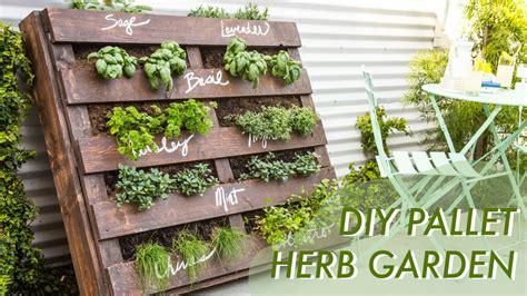 3 diy herb gardens you ll want to grow huffpost diy shipping pallet herb garden makeful youtube