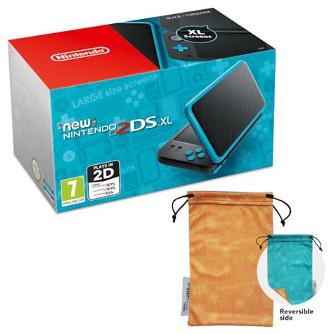 Nintendo New 2ds Xl Console Black Turquoise Bonus 1 new nintendo 2ds xl black and turquoise nintendo uk store